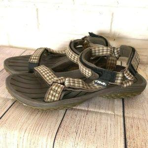 TEVA Sport Sandals Size 7 Brown Plaid